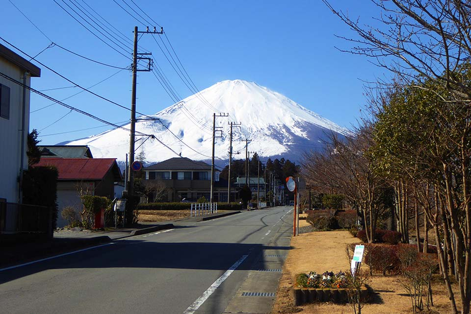 Mt. Fuji seen from Prefectural Route 150